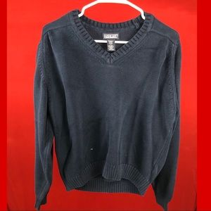 Lands' end navy blue sweater